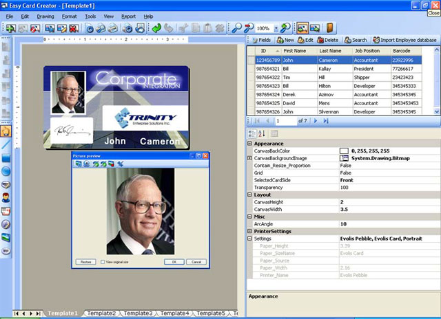 The most versatile identity card design software!